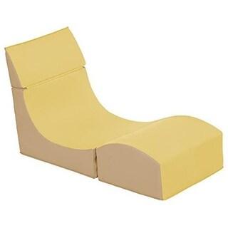 s SoftZone Fold-A-Way Chair, Yellow & Sand