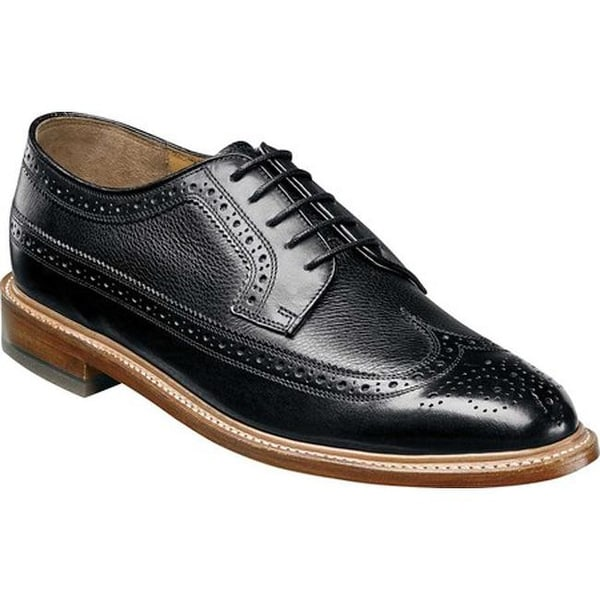 2976c85d8dd Shop Florsheim Men s Heritage Wingtip Oxford Black Smooth Milled ...