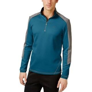 Calvin Klein Regular Fit 1/4 Zip Stretch Sweatshirt Moroccan Blue X-Large