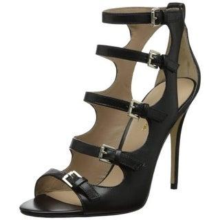 Joan & David Womens Novara Leather Heels Gladiator Sandals