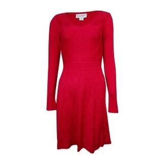 Jessica Simpson Women's V-neck Sweater Dress