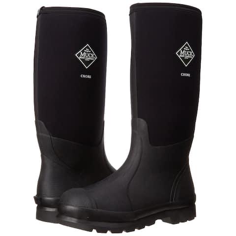 Muck Boot CHH000A-13 Chore Classic Hi Work Boot, Black, Unisex 13 Men/14 Women