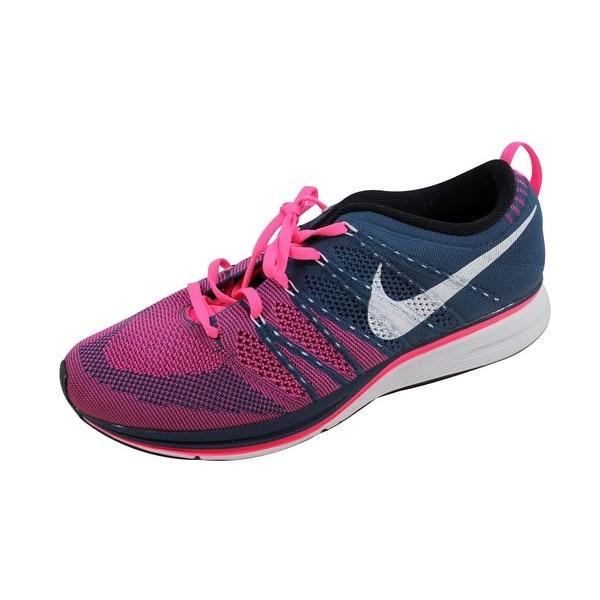 Nike Men's Flyknit Trainer + Squadron Blue/White-Pink Flash532984-416