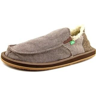 Sanuk Vagabond Chill   Moc Toe Canvas  Loafer