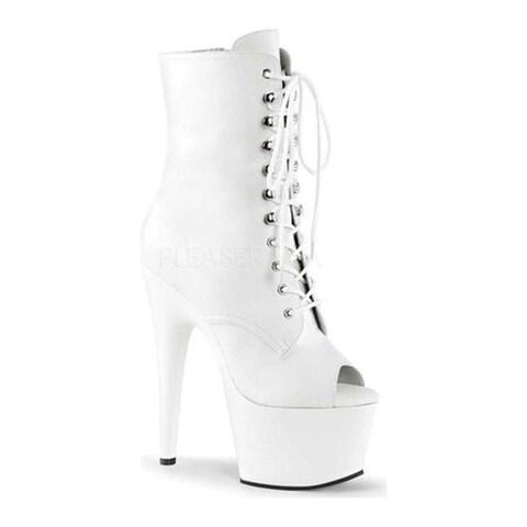 Pleaser Women's Adore 1021 White Faux Leather/White