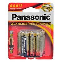 """12-pc. Panasonic Alkaline """"AAA"""" Batteries"""