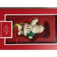 Santa's Starry Greetings Porcelain Ornament By Lenox - Medium