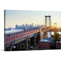 Premium Thick-Wrap Canvas entitled Williamsburg Bridge, NYC