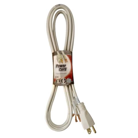 Coleman Cable 097468823 SPT-3 Replacement Power Supply Cord, Beige, 14/3, 6'