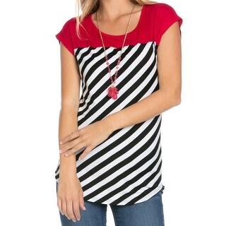 Red Tie Dye Stripes Shirt