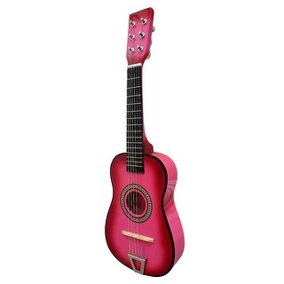 Envo Toys Acoustic Toy Guitar Musical Instrument Play Set Fuchsia