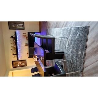 Porch & Den Rodney Ombre Waves Grey Runner Rug