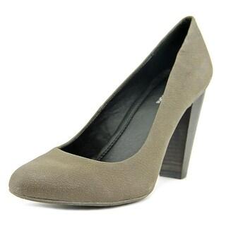 Calvin Klein Jeans Garessa   Round Toe Leather  Heels