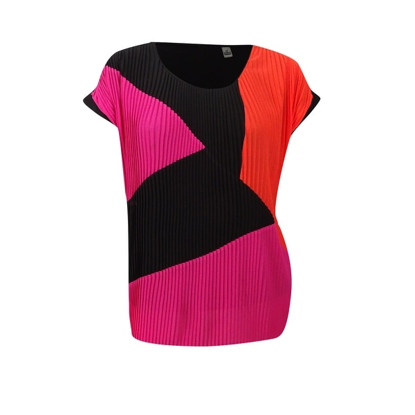 245894a6713cc Shop NY Collection Women s Plus Size Pleated Colorblocked Top - Free  Shipping On Orders Over  45 - Overstock.com - 20564860