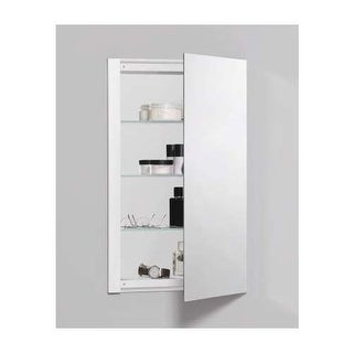 "Robern RC1626D4FP1 R3 16"" x 26"" x 4"" Plain Single Door Medicine Cabinet with Rev"