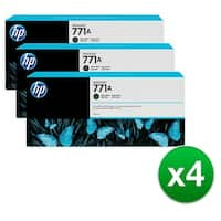 HP 771A 3-Cartridges 775-ml Matte Black DesignJet Ink Cartridges (B6Y39A) (4-Pack)