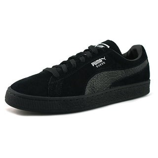 Puma Suede Classic Mono Reflced Men Round Toe Suede Black Sneakers