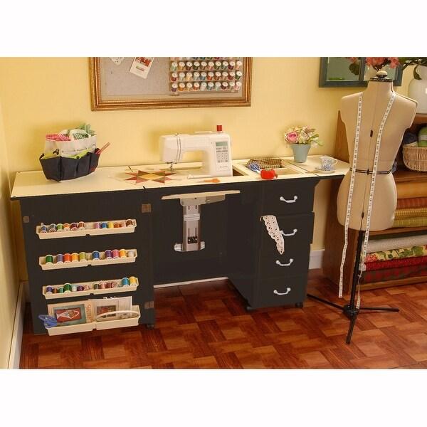 Arrow Norma Jean Model 353 Sewing Cabinet in Black
