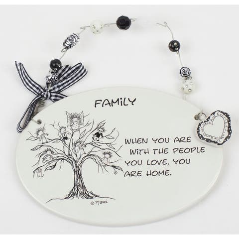 With The People You Love Plaque by Children of the Inner Light - 6.0 in. x 4.0 in.