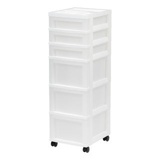 Link to 6-Drawer Storage Cart White/Pearl Similar Items in Filing Storage & Accessories