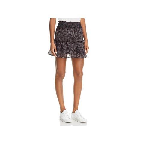 Rebecca Minkoff Womens Lillian Mini Skirt Tiered Floral - M