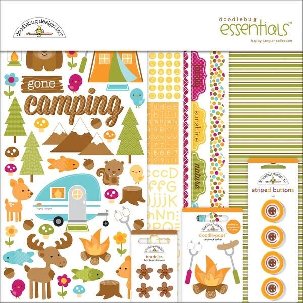 """Doodlebug Essentials Page Kit 12""""X12""""-Happy Camper"""