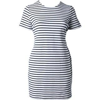 Ralph Lauren Womens Plus Lauren T-Shirt Dress Stretch Striped