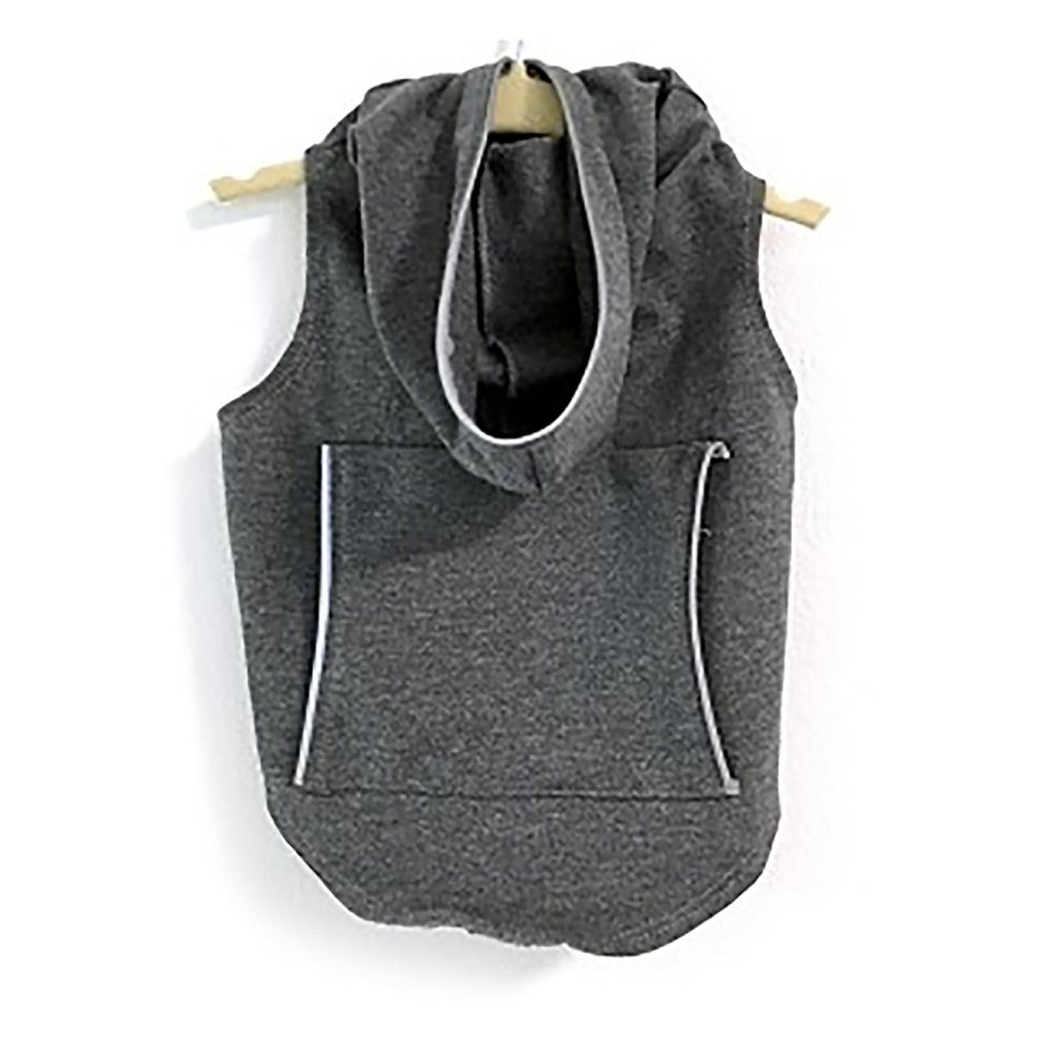 Daisy and Lucy Reflective Dog Hoodie - Dark Heather Gray (Dark Heather Gray - X-Small)