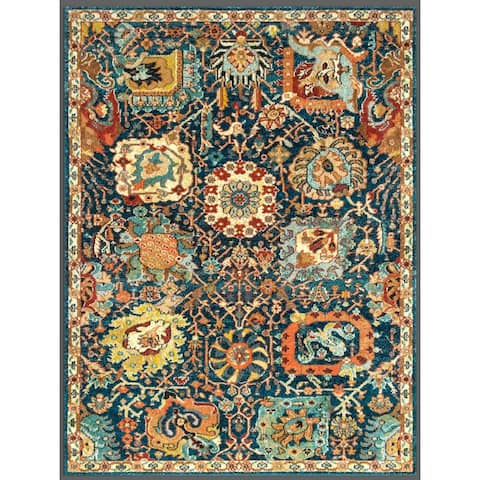 Kazan Collection Vintage Persian Distressed Rugs Machine Washable - Made from Premium Recycled Fibers