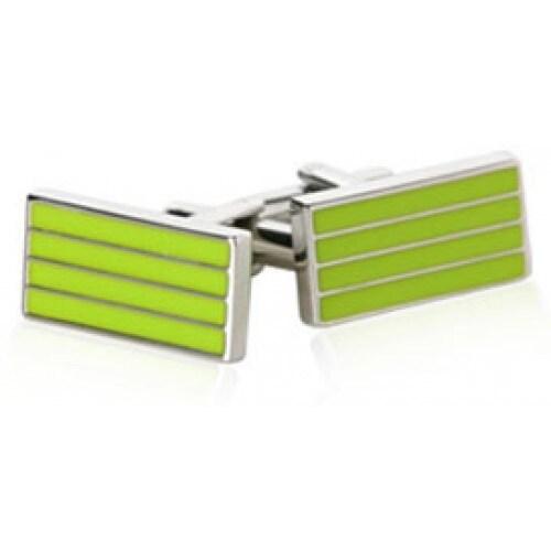 Chartreuse Green Yellow Bars Cufflinks