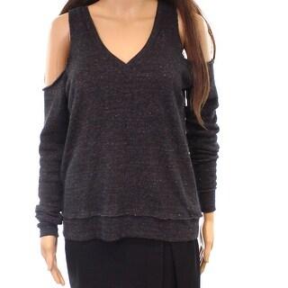 Alternative Womens V-Neck Speckled Pullover Sweater