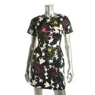 French Connection Womens Modal Floral Print Casual Dress - 0