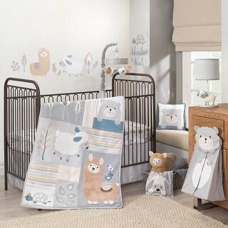 Lambs & Ivy Happi by Dena Little Llama Nursery 7-Piece Baby Crib Bedding Set