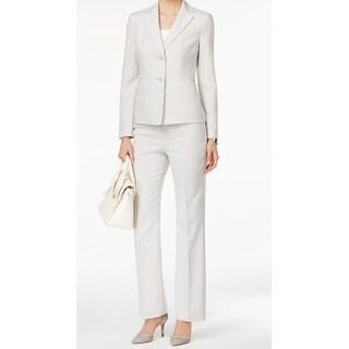 Le Suit NEW Gray Women's Size 8 Two Button Pinstriped Pant Suit