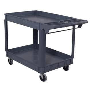 Costway Plastic Utility Service Cart 550 LBS Capacity 2 Shelves Rolling 46'' x 25'' x 33''|https://ak1.ostkcdn.com/images/products/is/images/direct/6b137a74bada7d5b6080d462a73c85ecc28f95b3/Costway-Plastic-Utility-Service-Cart-550-LBS-Capacity-2-Shelves-Rolling-46%27%27-x-25%27%27-x-33%27%27.jpg?impolicy=medium