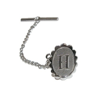 Jaymar Men's Oval Initial Tie Tack in Silver - One Size