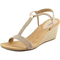 Style & Co. Womens Mulan 2 Canvas Open Toe Casual Platform Sandals