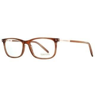Tom Ford TF 5398 062 55mm Brown Horn/Rose Gold Rectangular Eyeglasses - brown horn - 55mm-16mm-145mm