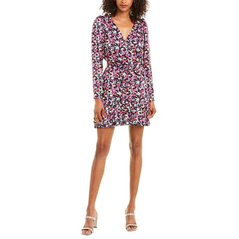 Wayf Printed Wrap Dress
