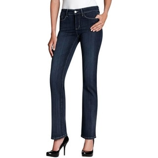NYDJ Womens Bootcut Jeans Stretch Button-Zip Fly