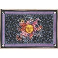"Handmade Smiling Sun Moon Star Divine Spiritual Yoga Tapestry Cotton Tablecloth Coverlet 55""x85"" - Thumbnail 0"