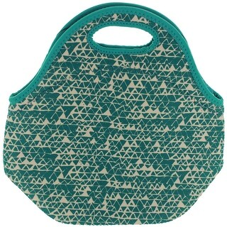 BUILT NY Gourmet Getaway Neoprene Lunch Tote - Triangle Candy Teal