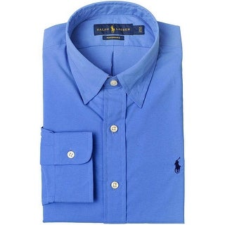 Polo Ralph Lauren Big and Tall Long Sleeve Shirt Aerial Blue 3XLT Tall