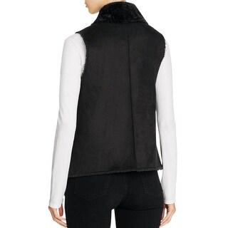 Calvin Klein Womens Vest Faux Suede Faux Shearling - m