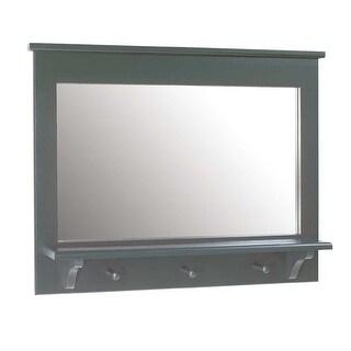 Vanity Mirror Combo Coat Peg Rack Shelf 25.5 x 32.5