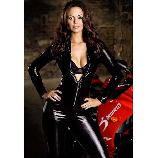 Shop Image Size Average Catsuit Clubwear Sexy Vinyl PVC Leather Zipper Dress  Costume Adult - Free Shipping On Orders Over $45 - Overstock - 18349076