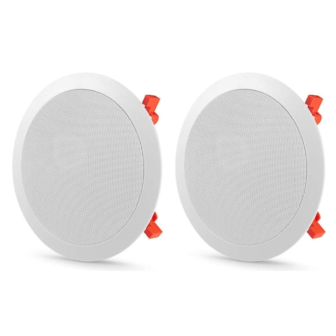 """JBL C-81C 8"""" In-Ceiling Speakers - Pair - White"""