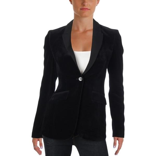 8b47e70f2 Shop BOSS Hugo Boss Womens Jeronala Blazer Velvet Colorblock - Free ...