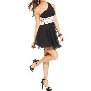 Blondie Nites Womens Juniors Clubwear Dress Embellished Open Back
