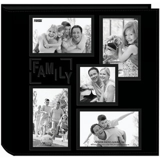 """Pioneer 5-Up Sewn Embossed Collage Frame Photo Album 12""""X12"""" - family"""